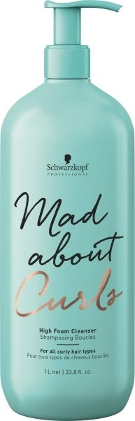 Шампоан с пяна за къдрава коса Schwarzkopf Professional Mad About Curls – High Foam Cleanser 1000 мл